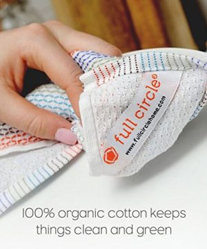 Full Circle Tidy 100 Organic Cotton Dish Cloths Set Of 3 Grayscale 0 3 300x360