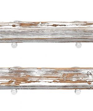 GLUCK Rustic Floating Shelves Wood Floating Shelves Floating Wall Shelves Bathroom Shelves Kitchen Shelves Home Dcor Rustic White Chipped Paint Look On Real Solid Wood 24x7x12 0 300x360