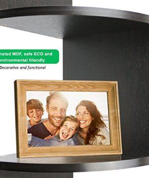 Greenco 5 Tier Wall Mount Corner Shelves Espresso Finish 775 L X 775 W X 485 H 0 2 300x360