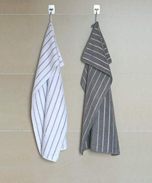 Gryeer Microfiber Dish Towels 8 Pack Stripe Designed Gray And White Colors Soft Super Absorbent And Lint Free Kitchen Towels 26 X 18 Inch 0 5 300x360