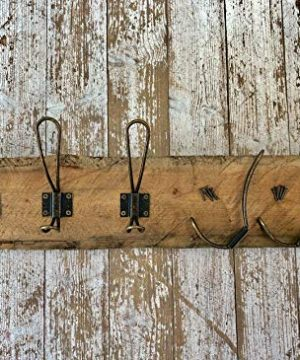 HOOXX 10 Pack Of Rustic Coat Hooks Decorative Vintage Hangers With Metal Screws Included Wall Mounted Hard Antique Industrial Heavy Duty Hook Set Best For Farmhouse Shabby Chic Hanging Look 0 0 300x360