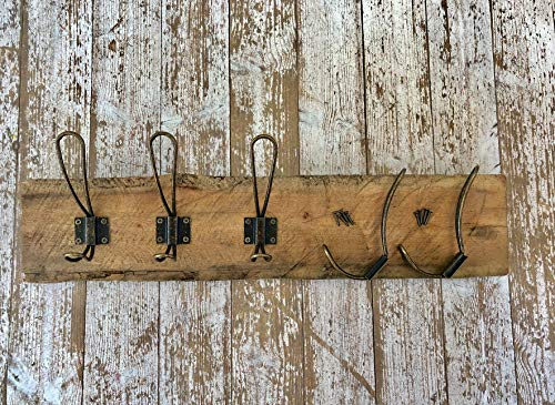 HOOXX 10 Pack Of Rustic Coat Hooks Decorative Vintage Hangers With Metal Screws Included Wall Mounted Hard Antique Industrial Heavy Duty Hook Set Best For Farmhouse Shabby Chic Hanging Look 0 0