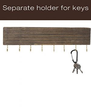 Heavy Duty Rustic Wooden Coat Rack And Entryway Shelf Includes 7 Hooks Top Storage Shelf And Key Chain Holder Size Is 32 X 1025 For Entryway Mudroom Kitchen Bathroom Hallway Foyer 0 2 300x360
