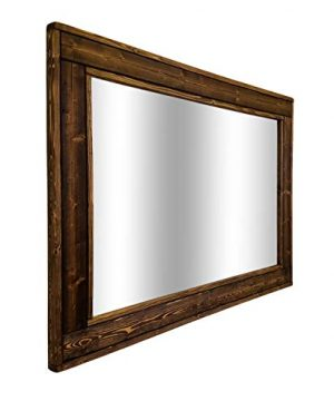 herringbone reclaimed wood ex large framed mirror