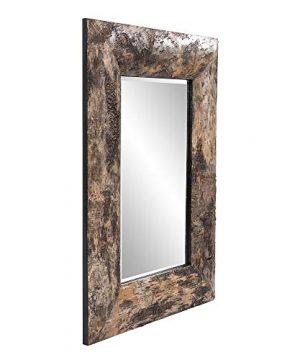 Howard Elliott Kawaga Rectangular Hanging Wall Mirror Natural Rustic Lodge Style Birch Bark Frame 26 X 36 Inch 0 0 300x360