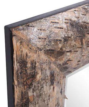 Howard Elliott Kawaga Rectangular Hanging Wall Mirror Natural Rustic Lodge Style Birch Bark Frame 26 X 36 Inch 0 1 300x360