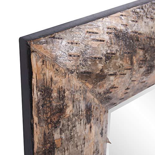 Howard Elliott Kawaga Rectangular Hanging Wall Mirror Natural Rustic Lodge Style Birch Bark Frame 26 X 36 Inch 0 1