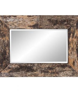 Howard Elliott Kawaga Rectangular Hanging Wall Mirror Natural Rustic Lodge Style Birch Bark Frame 26 X 36 Inch 0 300x360