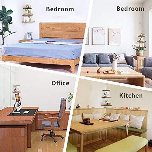 IPETSON Corner Shelf1 Pcs Hanging Wall Mounted Floating Corner Shelves Storage Shelving Table Bookshelf Drawers Display Racks Round End Oak Bedroom Office Home Dcor Accents Oak 7 0 0