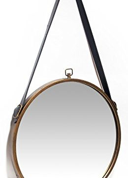 Infinity Instruments Rustic Circle Round Mirror Brown 0 1 260x360