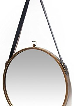 Infinity Instruments Rustic Circle Round Mirror Brown 0 2 254x360