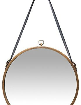 Infinity Instruments Rustic Circle Round Mirror Brown 0 278x360
