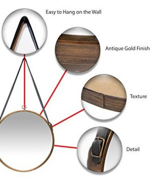 Infinity Instruments Rustic Circle Round Mirror Brown 0 4 300x360