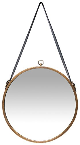 Infinity Instruments Rustic Circle Round Mirror Brown 0