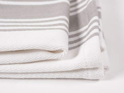 KAF Home Kitchen Towels Set Of 4 Absorbent Durable And Soft Towels Perfect For Kitchen Messes And Drying Dishes 18 X 28 Inches Drizzle 0 4