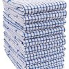 KAF Home Set Of 10 Grid Terry Kitchen Towels 20 X 30 Inches 100 Cotton Bleach Safe Ultra Absorbent Terry Dish Towels Blue 0 100x100