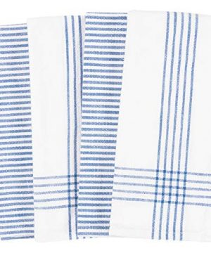 KAF Home Set Of 4 Monaco Relaxed Casual Slubbed Kitchen Towel 100 Cotton Dish Towel 18 X 28 Inches Soft And Absorbent Farmhouse Kitchen Towel Set Of 4 Blue 0 0 300x360