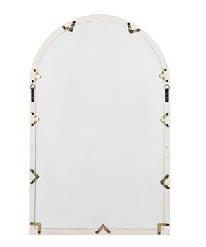 Kate And Laurel Boldmere Wood Windowpane Arch Mirror 28x44 Rustic BrownWhite 0 4 300x360