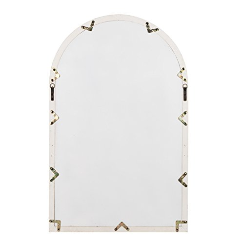 Kate And Laurel Boldmere Wood Windowpane Arch Mirror 28x44 Rustic BrownWhite 0 4