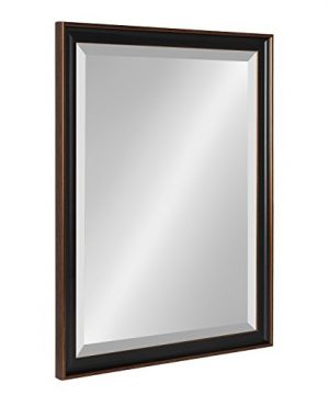 Kate And Laurel Havana 205x265 Framed Beveled Wall Mirror Oil Rubbed Bronze 0 300x360