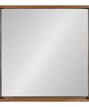 Kate And Laurel Hutton Rustic Wood Square Mirror 30x30 Natural 0 0 300x360