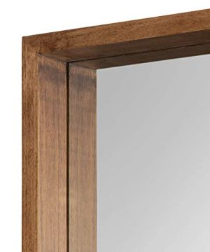 Kate And Laurel Hutton Rustic Wood Square Mirror 30x30 Natural 0 1 300x360