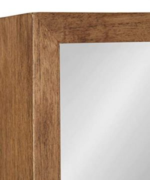 Kate And Laurel Hutton Rustic Wood Square Mirror 30x30 Natural 0 3 300x360