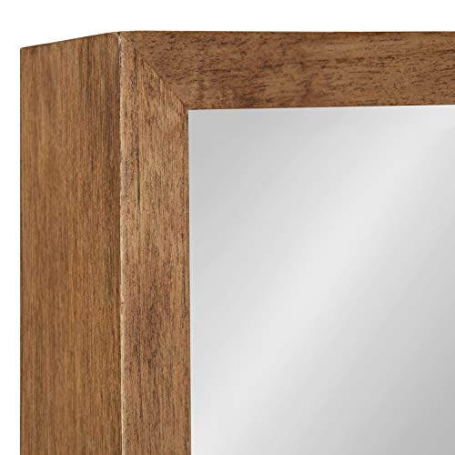 Kate And Laurel Hutton Rustic Wood Square Mirror 30x30 Natural 0 3