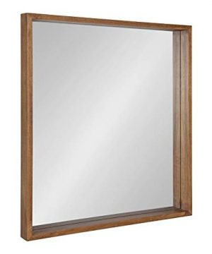 Kate And Laurel Hutton Rustic Wood Square Mirror 30x30 Natural 0 300x360