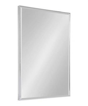 Kate And Laurel Rhodes Large Framed Decorative Rectangle Wall Mirror 2475x3675 Chrome Silver 0 300x360