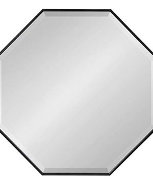 Kate And Laurel Rhodes Modern Octagon Mirror 2875x2875 Black 0 0 300x360