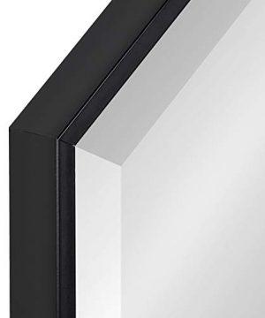 Kate And Laurel Rhodes Modern Octagon Mirror 2875x2875 Black 0 1 300x360