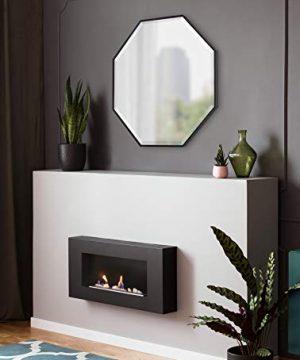 Kate And Laurel Rhodes Modern Octagon Mirror 2875x2875 Black 0 2 300x360