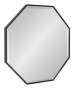 Kate And Laurel Rhodes Modern Octagon Mirror 2875x2875 Black 0 300x360