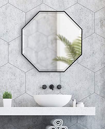 Kate And Laurel Rhodes Modern Octagon Mirror 2875x2875 Black 0 5