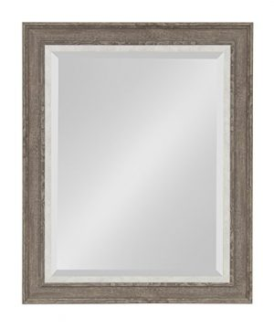 Kate And Laurel Woodway Framed Wall Mirror 235x295 Gray 0 300x360