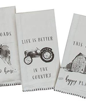 Kay Dee Designs Farmers Market Assorted Set Flour Sack Towels Set Of 3 0 300x357