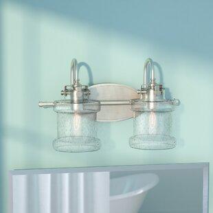 Kent+2-Light+Dimmable+Brushed+Nickel+Vanity+Light