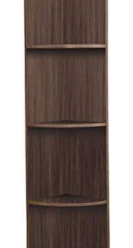 Kings Brand Furniture Wood Wall Corner 5 Tier Bookshelf Display Stand Grey 0 1 193x360