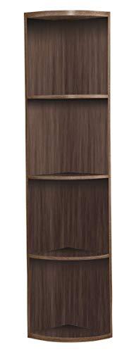 Kings Brand Furniture Wood Wall Corner 5 Tier Bookshelf Display Stand Grey 0 1