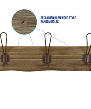 LULIND Rustic Wall Mounted Coat Rack With 3 Brown Hooks Real Cedar Wood 0 1 300x360