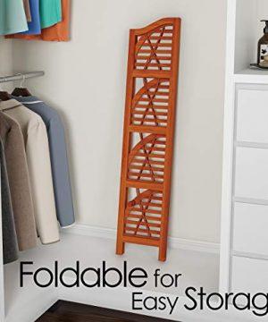Lavish Home 4 Tier Wood Folding Corner Display Shelf 0 1 300x360