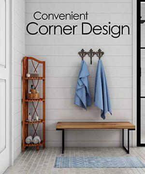 Lavish Home 4 Tier Wood Folding Corner Display Shelf 0 2 300x360