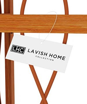 Lavish Home 4 Tier Wood Folding Corner Display Shelf 0 4 300x360