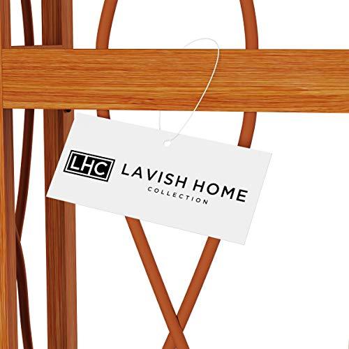 Lavish Home 4 Tier Wood Folding Corner Display Shelf 0 4