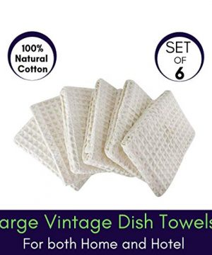 Linen And Towel Kitchen Dish Towels Ring Spun Cotton Large 18 X 28 6 Pack Big Waffle Cream Color Kitchen Towel Hand Towels Tea Towels Dish Towels And Dish Cloth 0 0 300x360