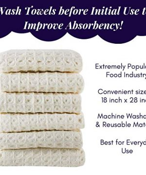 Linen And Towel Kitchen Dish Towels Ring Spun Cotton Large 18 X 28 6 Pack Big Waffle Cream Color Kitchen Towel Hand Towels Tea Towels Dish Towels And Dish Cloth 0 3 300x360