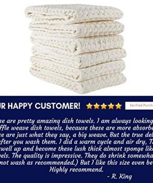 Linen And Towel Kitchen Dish Towels Ring Spun Cotton Large 18 X 28 6 Pack Big Waffle Cream Color Kitchen Towel Hand Towels Tea Towels Dish Towels And Dish Cloth 0 4 300x360