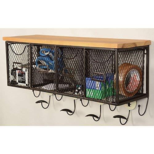 Linon 4 Basket Wall Organizer 235 L X 725 W X 124 H Brown Black 0 0