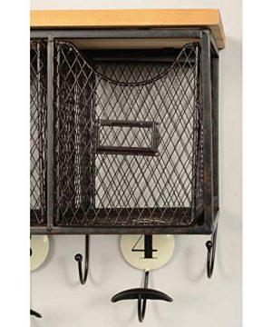 Linon 4 Basket Wall Organizer 235 L X 725 W X 124 H Brown Black 0 1 300x360